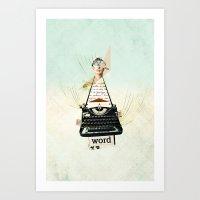 Word Art Print