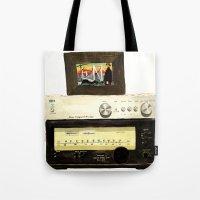 Stereo Stack Tote Bag