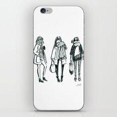 Brush Pen Fashion Illustration - East Coast Girls iPhone & iPod Skin