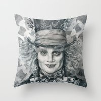 Mad Hatter - Johnny Depp… Throw Pillow