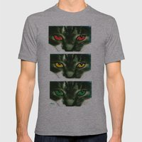 CAT CROSSING Mens Fitted Tee Athletic Grey SMALL
