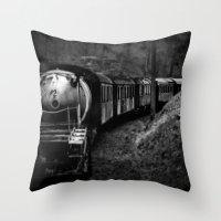 Spooky Train Throw Pillow