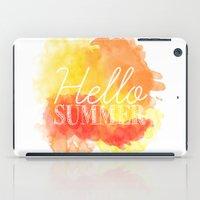 Hello Summer; iPad Case