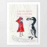 A Single Friend Art Print