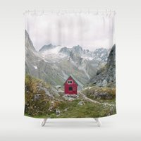 Mint Hut Shower Curtain
