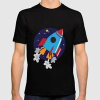 Space Cruiser Mens Fitted Tee Black SMALL