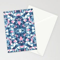 Abstract Collide Blue and Pink Stationery Cards
