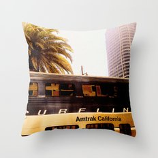 All Aboard the Surfline Throw Pillow