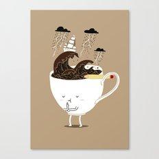 Brainstorming Coffee Canvas Print