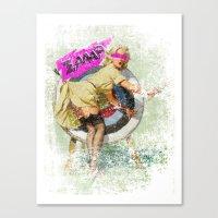Lucky Butt Canvas Print