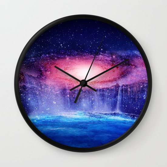 Andromeda Waterfall. Wall Clock