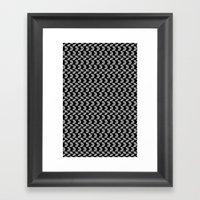 Drawn Triangles 01 Framed Art Print