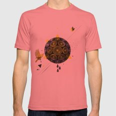 YELLOW Mens Fitted Tee Pomegranate SMALL