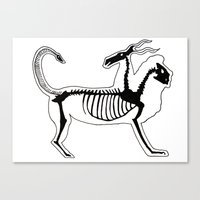 Chimera Skeleton Canvas Print