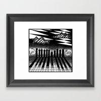 Descending Of Night At T… Framed Art Print
