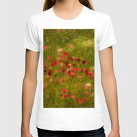 Deep Poppies Womens Fitted Tee White SMALL