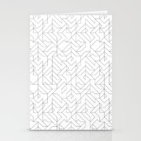Geometric Camo Stationery Cards