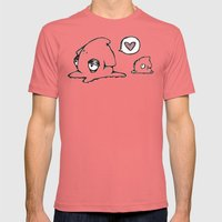 Squid Love Mens Fitted Tee Pomegranate SMALL