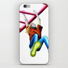 Girl On Monkey Bars iPhone & iPod Skin