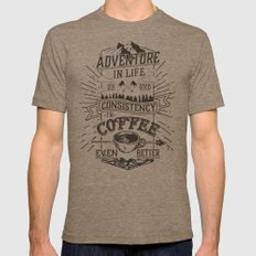 Coffee Mens Fitted Tee Tri-Coffee SMALL