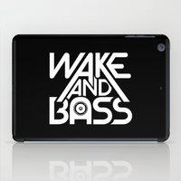 Wake And Bass (White) iPad Case
