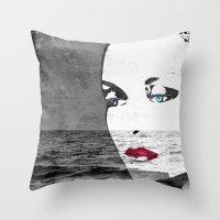 Faces 18 Throw Pillow
