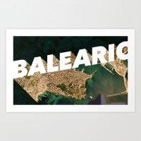 Balearic Beat Art Print