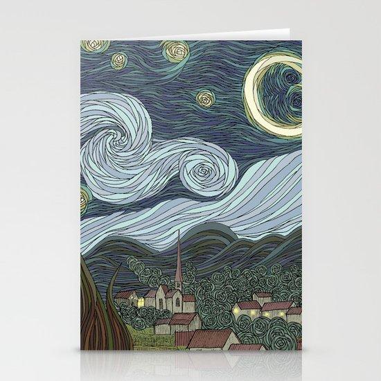 starry night Stationery Card