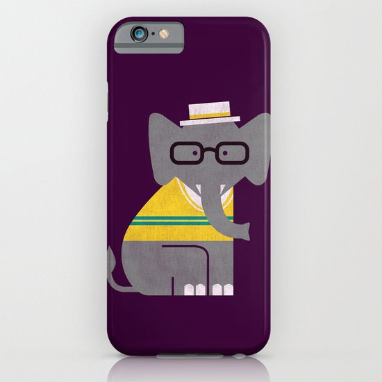 Rodney the preppy elephant iPhone & iPod Case