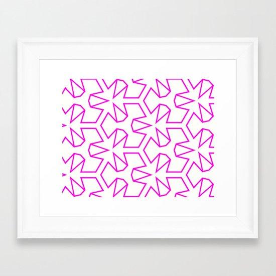 Van Zwaben Pink Neon Pattern Framed Art Print