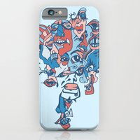 Close-Mouth Grin on a Gap Tooth Brain Freeze iPhone 6 Slim Case