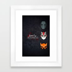 Family Business Framed Art Print