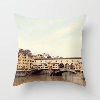 Ponte Vecchio Throw Pillow