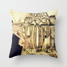 H.O.P.E. Throw Pillow