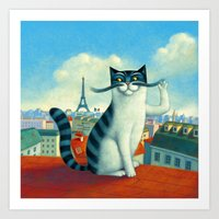 A Cat In Paris Art Print