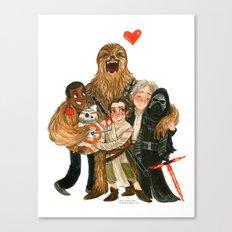 Force Awakens Hug! Canvas Print