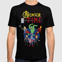 Avenger Time Mens Fitted Tee Black SMALL