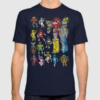 Mighty Melty Power Rangers Mens Fitted Tee Navy SMALL
