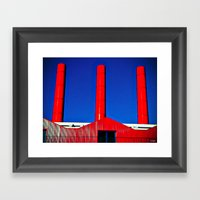 The Red Factory Framed Art Print