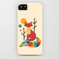 iPhone Cases featuring Rainbow Fox by Andy Westface