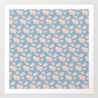 Paper Pigs (Patterns Ple… Art Print