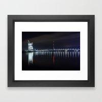Bridge at evening Framed Art Print