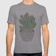 Cactus Mens Fitted Tee Athletic Grey SMALL