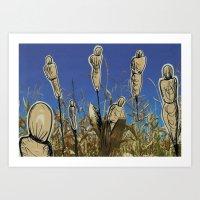 Human Cornfield /Maizal … Art Print