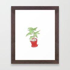 my plant ipad Framed Art Print