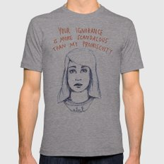 Your ignorance is more scandalous than my promiscuity Mens Fitted Tee Athletic Grey SMALL