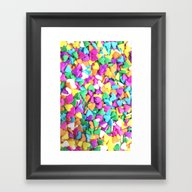 CANDY HEARTS - For Iphon… Framed Art Print