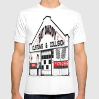 Fat Daddy Mens Fitted Tee White SMALL