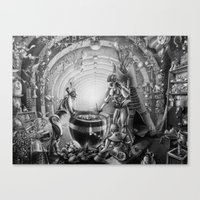 Temporary station Canvas Print