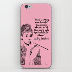 AUDREY HEPBURN Pink iPhone & iPod Skin